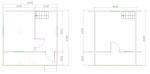 планировка дома с балконом 6х6