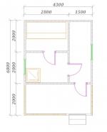 планировка небольшой бани с террасой