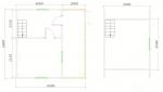 планировка садового домика 6х6
