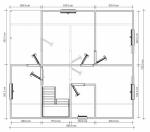 План первого этажа 7х8
