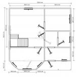 план первого этажа дома 7х7