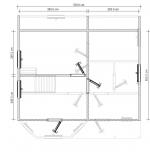 план второго этажа дома 7х7