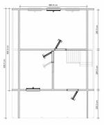 план второго этажа 6х8