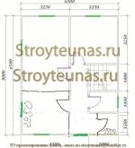 планировка 1 этажа небольшого дома из бруса