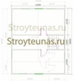 план спальной зоны в мансарде брусового дома