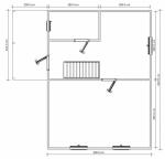 план дома из бруса 8х8 с мансардой