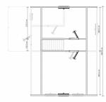 план второго этажа 8х8