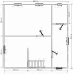 план первого этажа 8х8