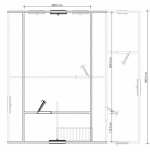 дом 8х8 из бруса план второго этажа