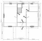план первого этажа дома 9х9 из бруса