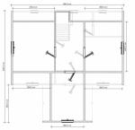 планировка мансардного этажа в брусовом дачном доме