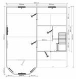 планировка двухэтажного коттеджа на 1 этаже