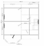 план второго этажа коттеджа 9х8