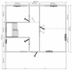 план дома 9х9,5 первый этаж