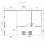 план первого этажа деревянного дома 6х9