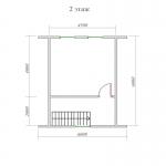 план мансарды брусового дома