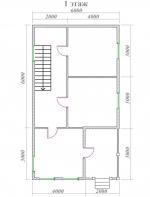 план первого этажа 6х9