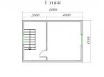 план второго этажа 6х9