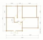 планировка второго этажа у дома из оцилиндрованного бревна