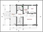 планировка помещения на первом этаже небольшого дома