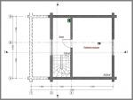 план размеров и расположения стен в дом 6 на 7,5