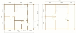 план двух этажей в доме 8,7Х7,3
