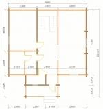 План первого этажа в бревенчатом доме