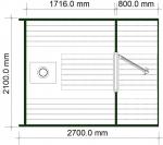 планировка бани бочки с террасой от 2 метров