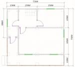 план 1 этажа 7,5х7,5