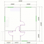 план первого этажа 6х6,5