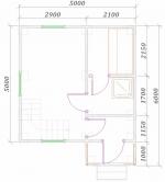 планировка 1 этажа небольшой бани