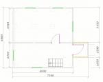 планировка дома 7,5х6