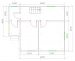 планировка 1 этажа 6х7,5