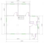 план 1 этажа 7,5х8