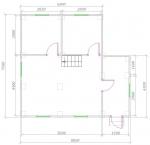 планировка 1 этажа 8х8