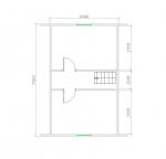 план 2 этажа 7,5х8