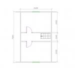 планировка 2 этажа 8х8