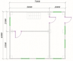 планировка первого этажа 7х6