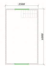 планировка мансарды 7х6