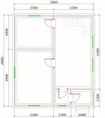 план 1 этаж 7х8