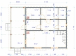 план первого этажа недорого дома
