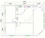 Планировка 1 этажа большого дома