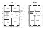 планировка двух этажей в газобетоном доме