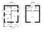 план небольшого двухэтажного домика из газобетона