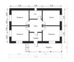 план 1 этажного дома дома с террасой
