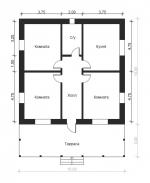 план большого дома по площади 10 на 12