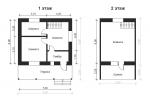 планировка дома с балконом