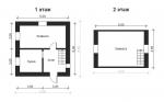планировка газобетонного дома 6,5 на 6,5