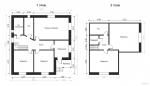 планировка двух этажей на одном фото