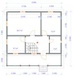 план первого этажа в большом загородном доме